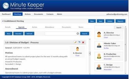 Meeting management web based software